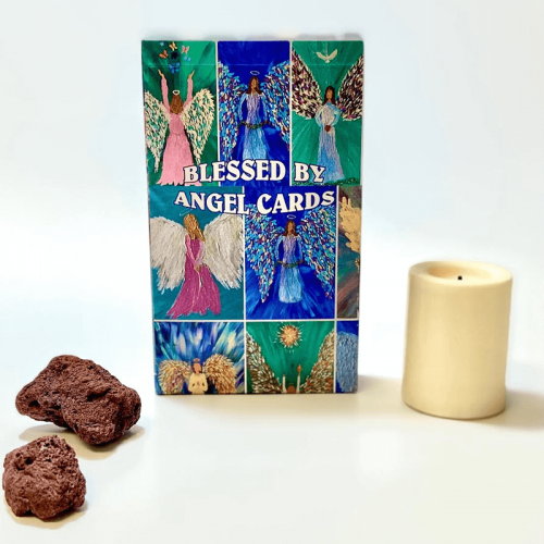 Blessed by Angels Oracle Cards box feature